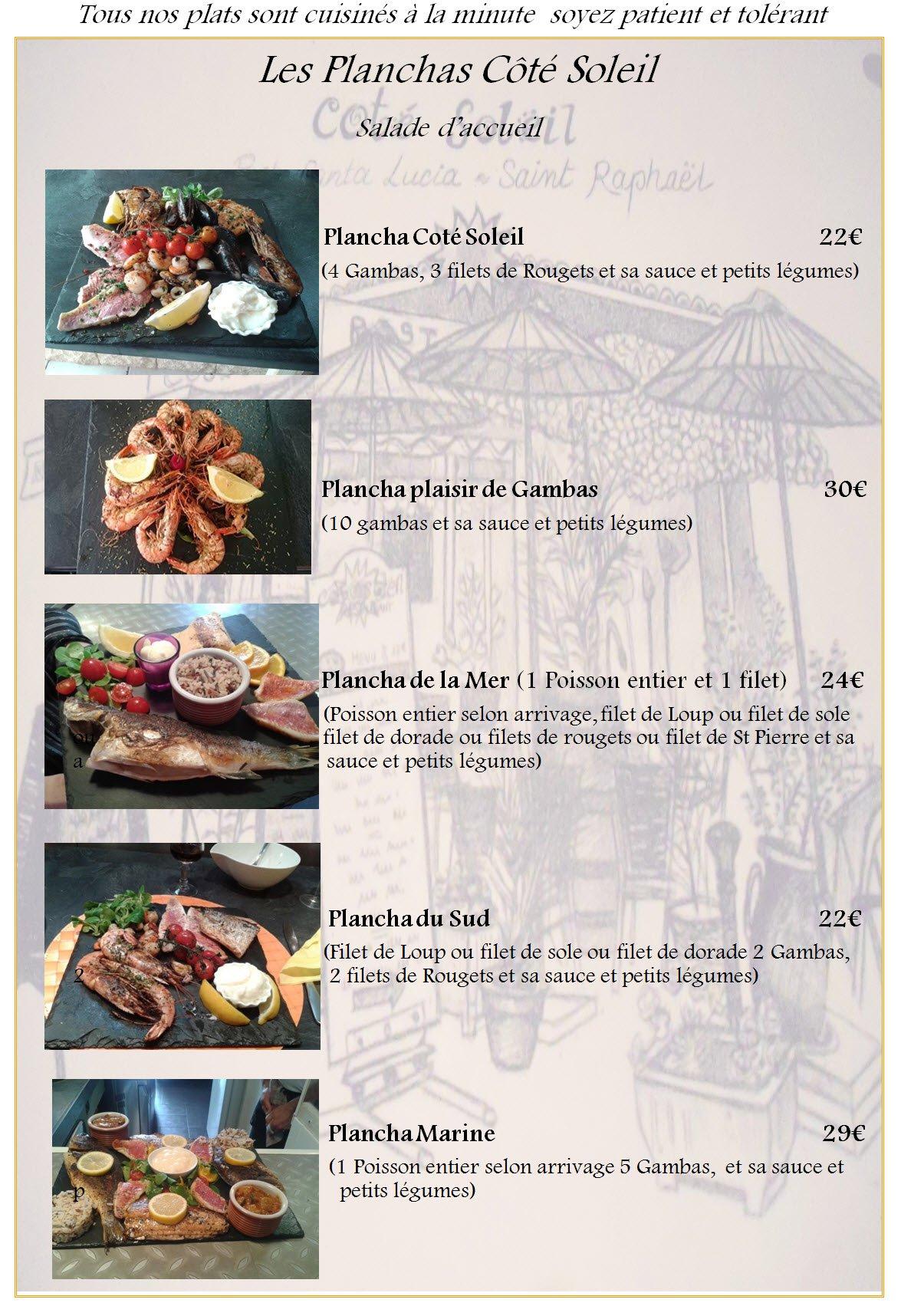 Menus Restaurant Le Bouchon Provencal Saint Raphael