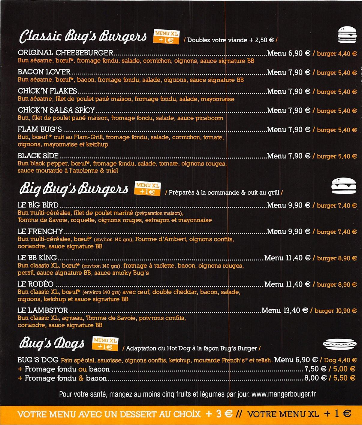 bug 39 s avignon carte menu et photos. Black Bedroom Furniture Sets. Home Design Ideas