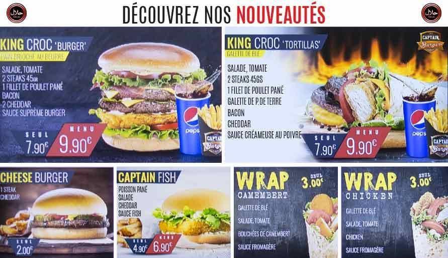 captain burger avignon carte menu et photos. Black Bedroom Furniture Sets. Home Design Ideas