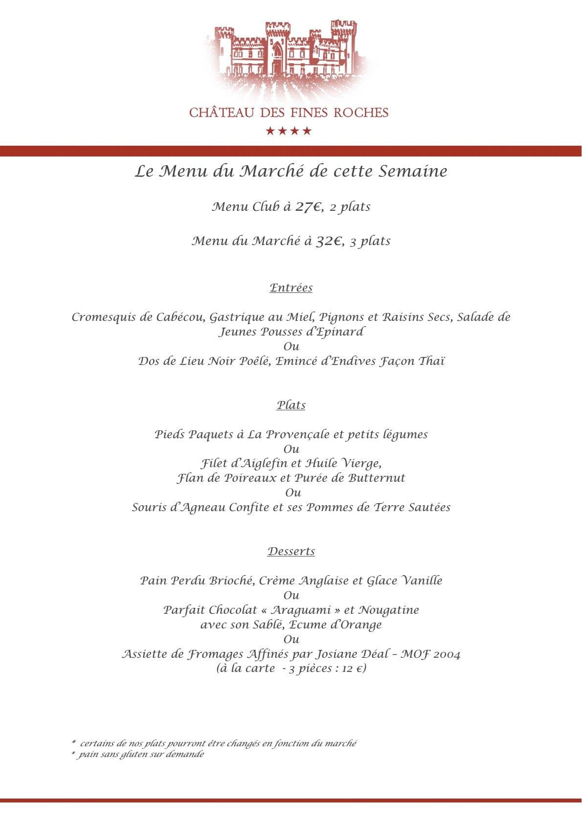 Restaurant Gastronomique Chateauneuf Du Rhone