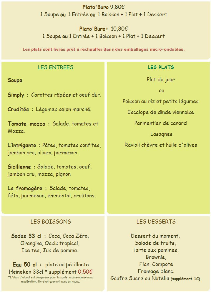 Resto 39 buro cavaillon carte menu et photos for Buro restaurant