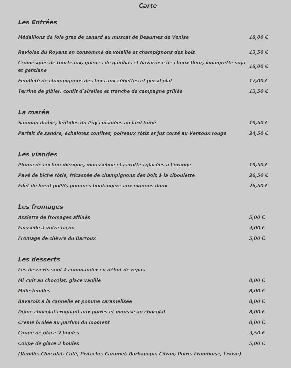 Le four chaux caromb carte menu et photos for Restaurant caromb
