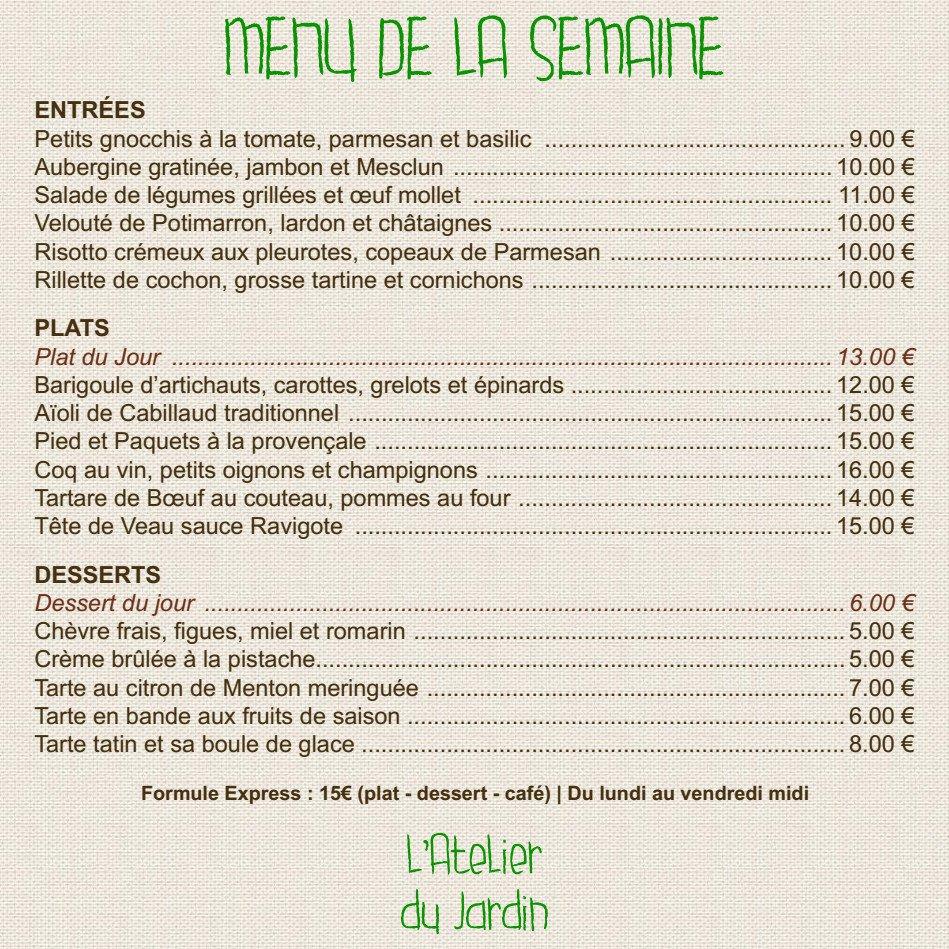 L 39 atelier du jardin l 39 isle sur la sorgue carte menu et photos - Le jardin du quai isle sur la sorgue ...