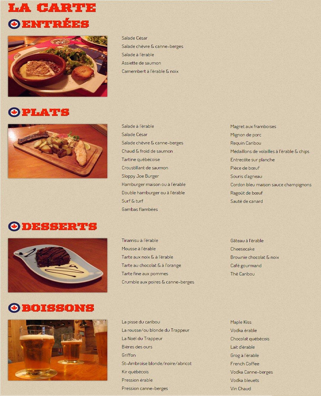 Caribu Restaurant Menu