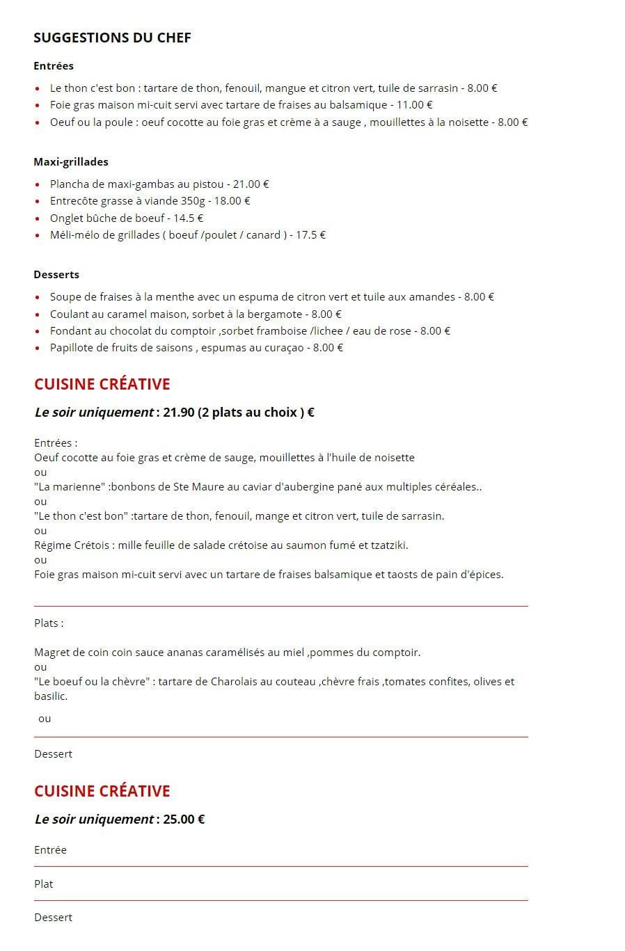La Cuisine De Comptoir à Poitiers Cartemenu Et Photos - Cuisiner comme un chef poitiers