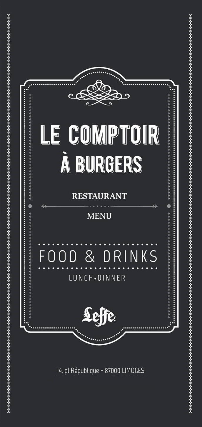 le comptoir burgers limoges carte menu et photos. Black Bedroom Furniture Sets. Home Design Ideas