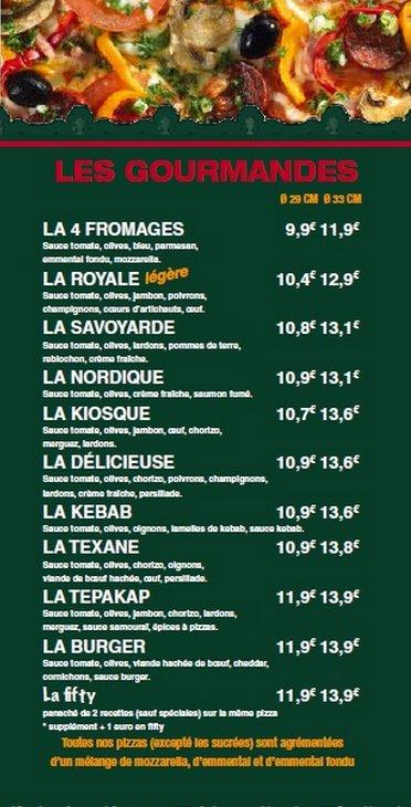Carte Kiosque A Pizza.Le Kiosque A Pizzas A Isle Carte Menu Et Photos