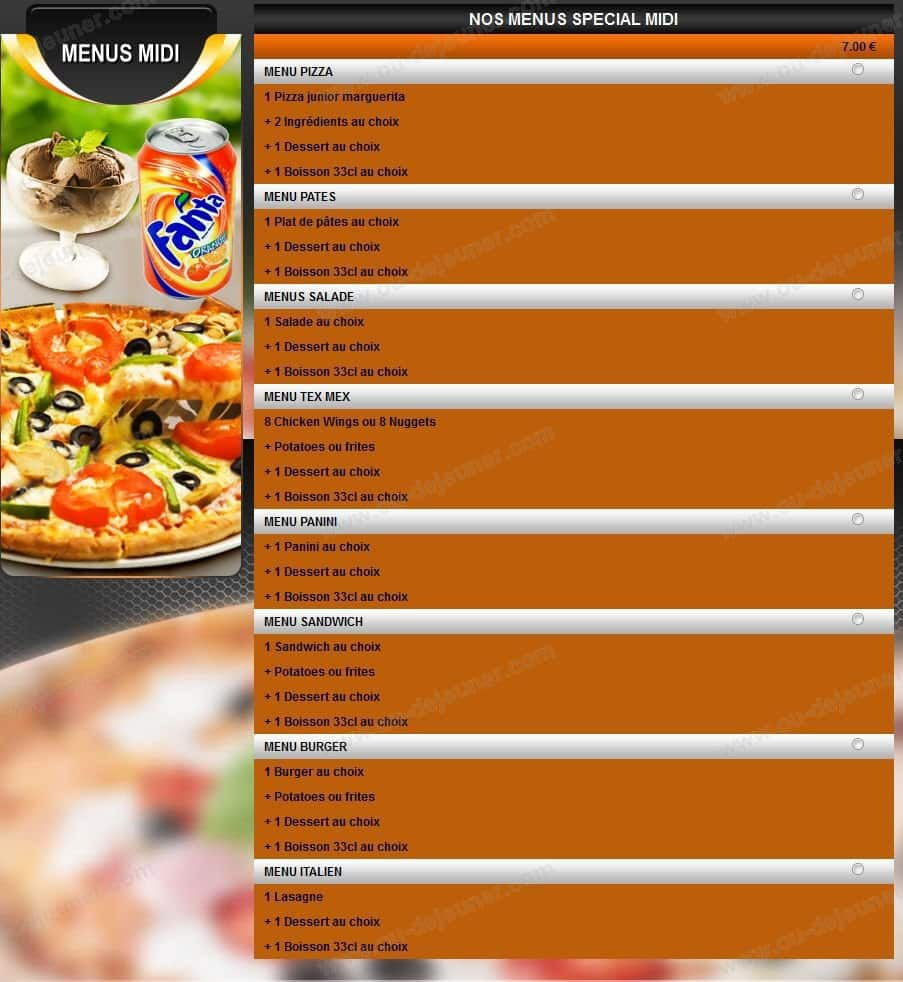 La sicilienne viry chatillon carte et menu en ligne - Table a pizza viry chatillon ...