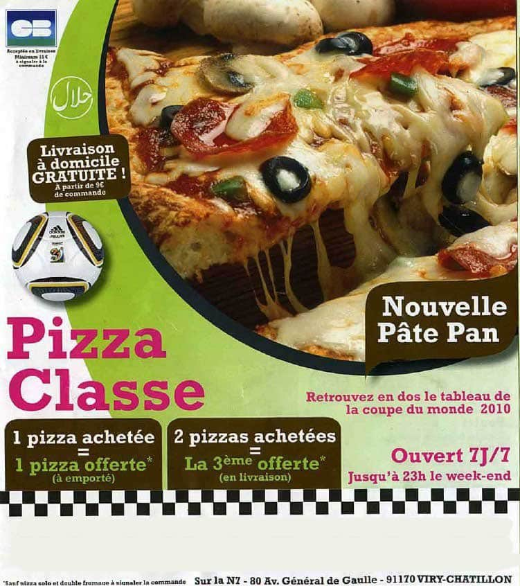 Pizza classe viry chatillon carte et menu en ligne - Table a pizza viry chatillon ...