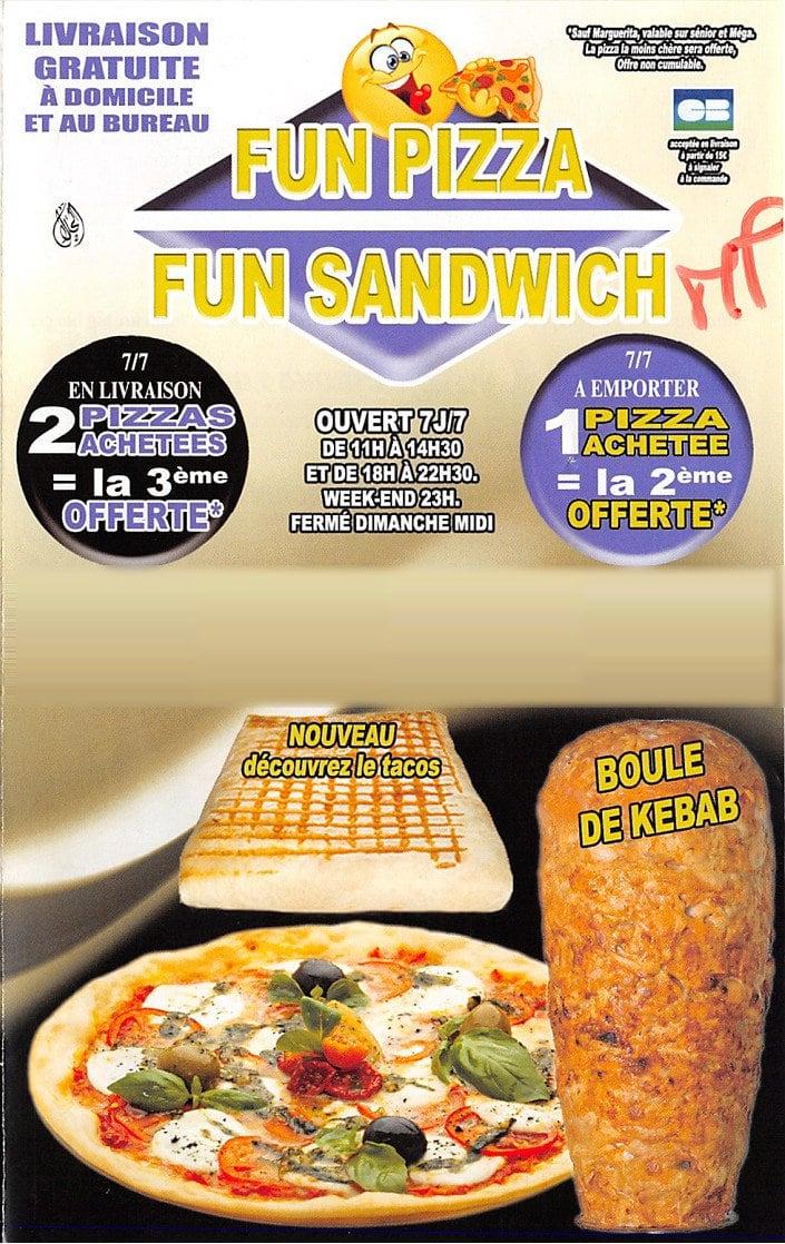 fun pizza fun sandwich massy carte menu et photos. Black Bedroom Furniture Sets. Home Design Ideas
