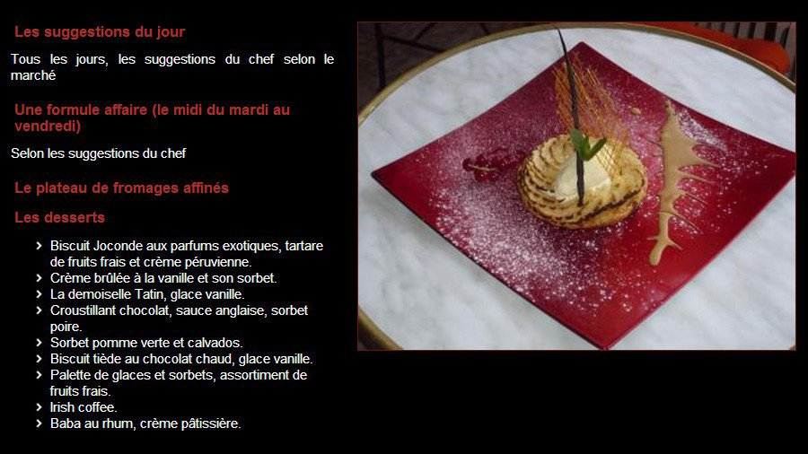 La biche aux bois yerres carte menu et photos - La biche aux bois yerres ...