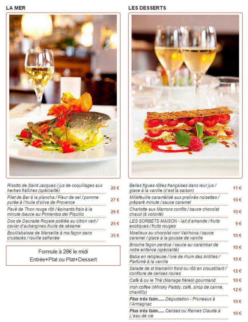 La table des oliviers neuilly sur seine carte menu et - La table des oliviers neuilly ...
