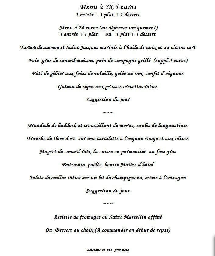 Le Chefson à Bois Colombes, cartemenu et photos ~ Bleu T Bois Colombes