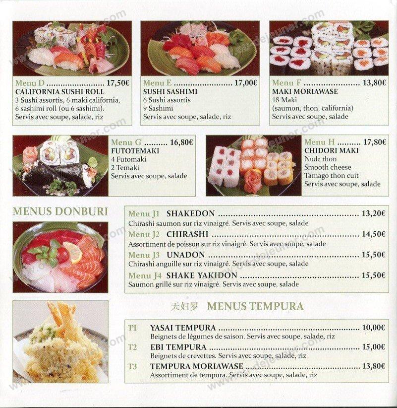 Chidorià Rosny Sous Bois, carte et menu en ligne # Quick Rosny Sous Bois