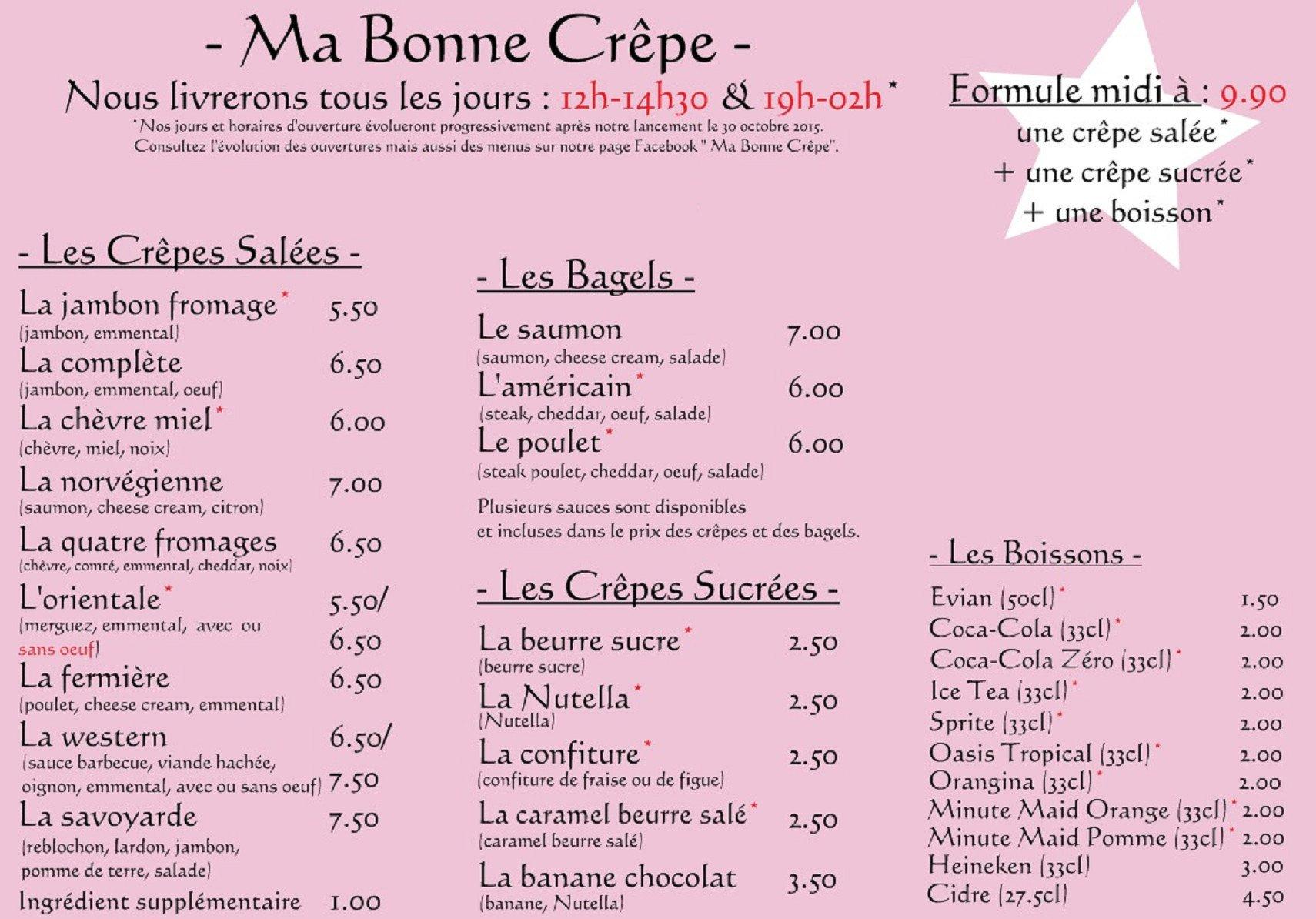 Ma Bonne Cr 234 Pe 224 Noisy Le Sec Carte Menu Et Photos