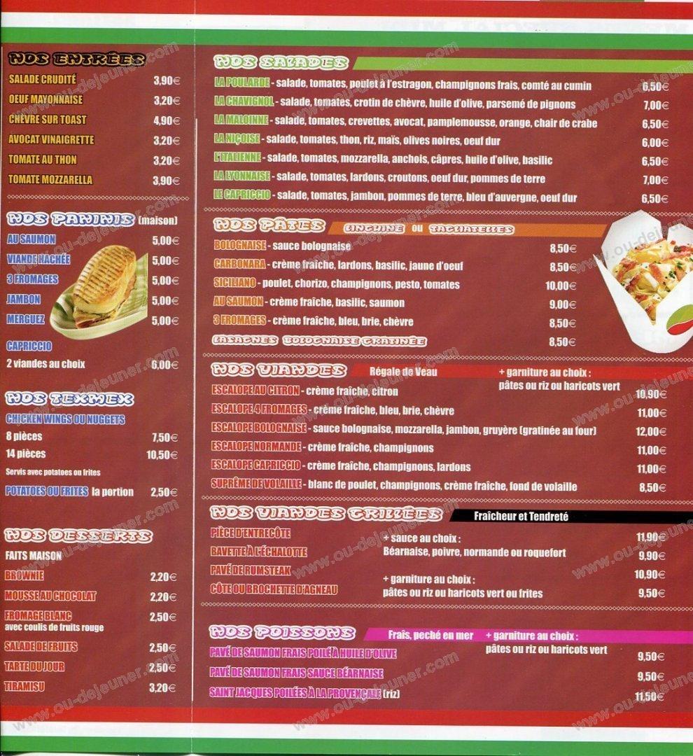 Le capriccio livry gargan carte et menu en ligne - Livry gargan 93190 ...
