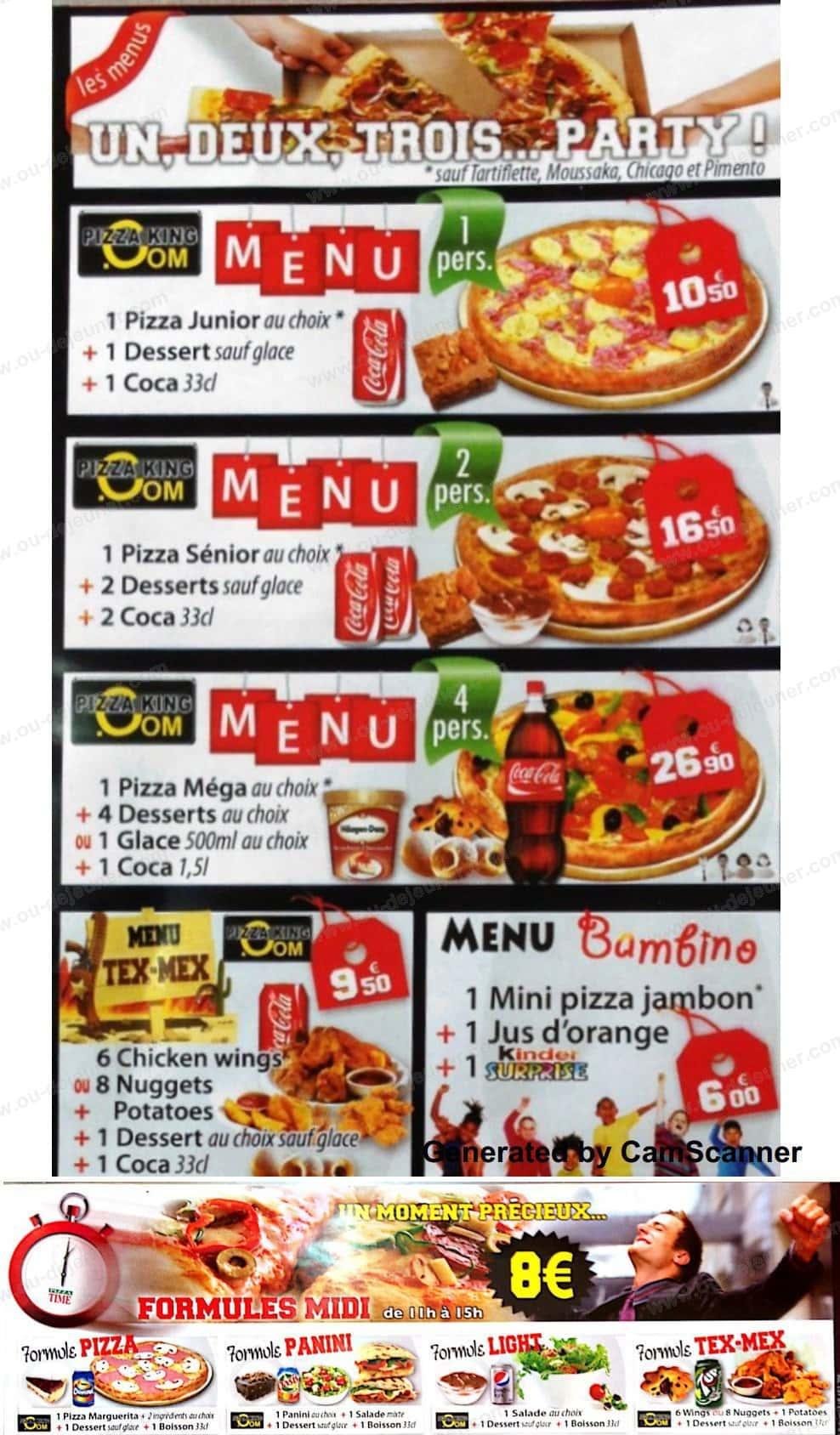 pizza king aubervilliers carte et menu en ligne. Black Bedroom Furniture Sets. Home Design Ideas