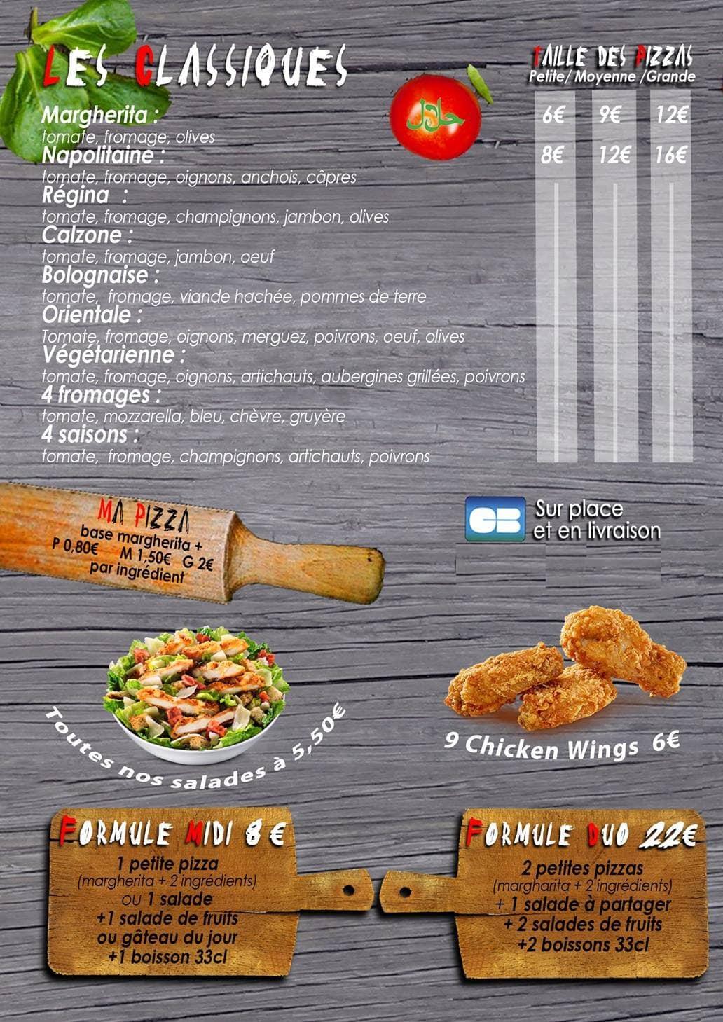 Pizza Del Mundo à Les Pavillons Sous Bois, cartemenu et  ~ Pizza Pavillons Sous Bois