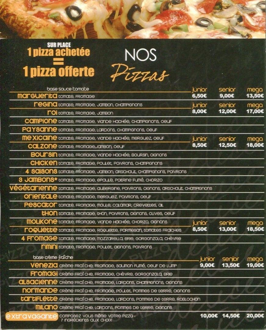 Pizza délice à Les Pavillons Sous Bois, cartemenu et photos ~ Pizza Pavillons Sous Bois