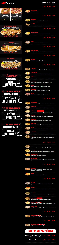 Pizza times à Les Pavillons Sous Bois, cartemenu et photos ~ Pizza Pavillons Sous Bois