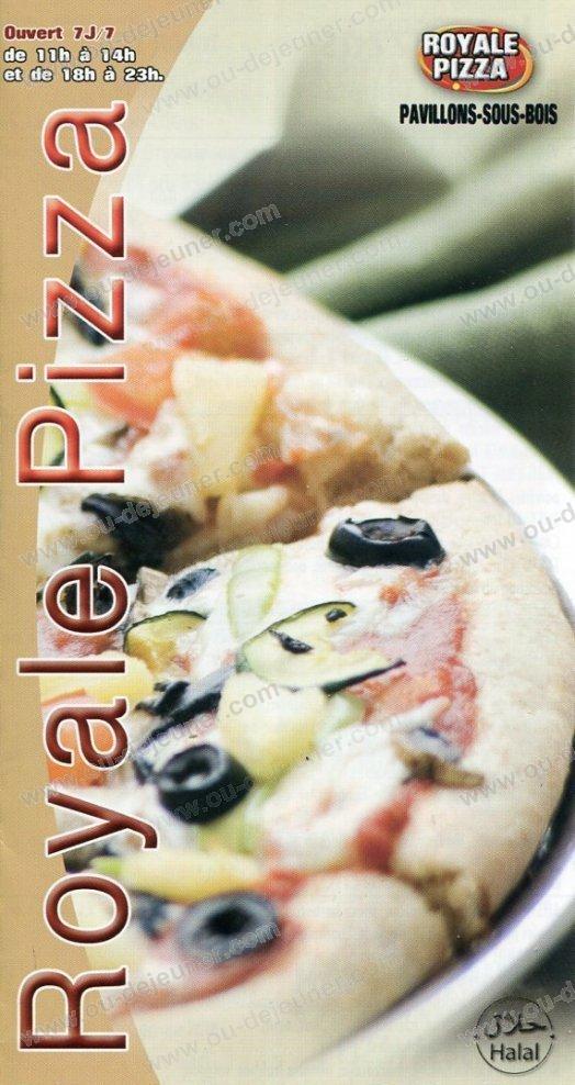 Royale Pizza à Les Pavillons Sous Bois, carte et menu en ligne ~ Pizza Pavillons Sous Bois