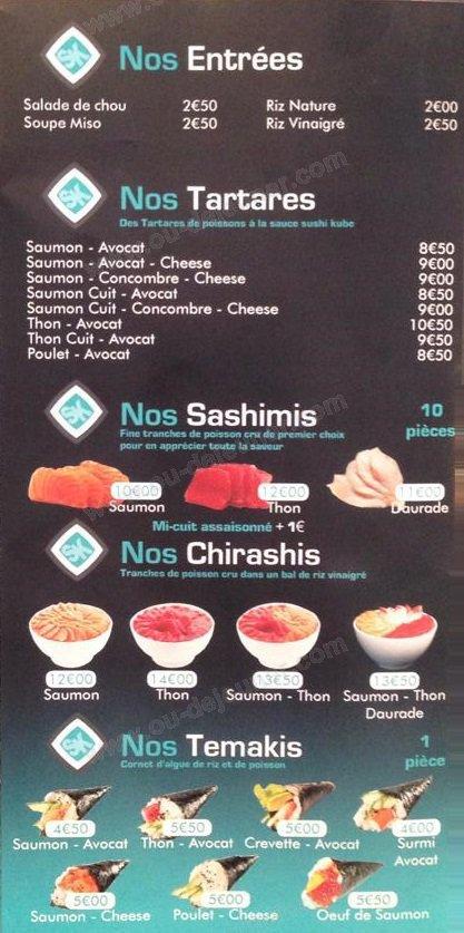 Sushi kube saint ouen carte et menu en ligne - Restaurant japonais saint ouen ...