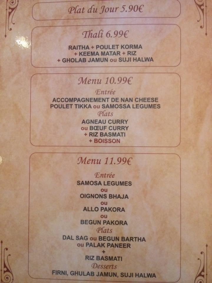 gram bangla pantin carte menu et photos. Black Bedroom Furniture Sets. Home Design Ideas