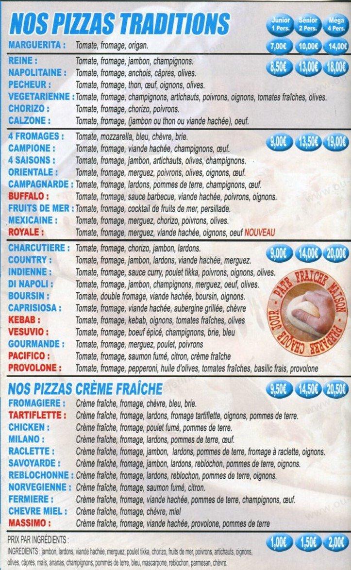 Di Napoli Pizzaà Aulnay Sous Bois, carte et menu en ligne # Le Cercle Pizza Aulnay Sous Bois