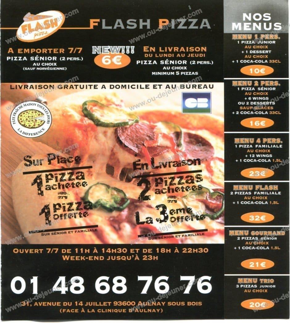Flash Pizzaà Aulnay Sous Bois, carte et menu en ligne # Le Cercle Pizza Aulnay Sous Bois