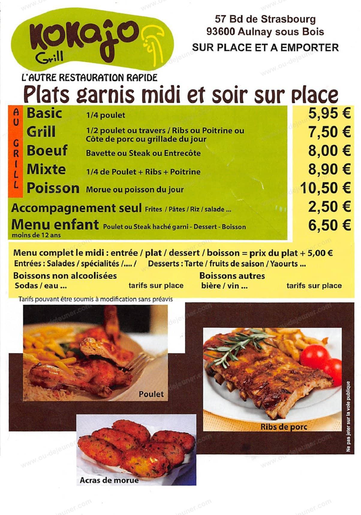 Kokajoà Aulnay Sous Bois, carte menu et photos # Le Cercle Pizza Aulnay Sous Bois