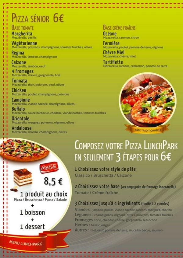 Lunch Parkà Aulnay Sous Bois, carte menu et photos # Le Cercle Pizza Aulnay Sous Bois