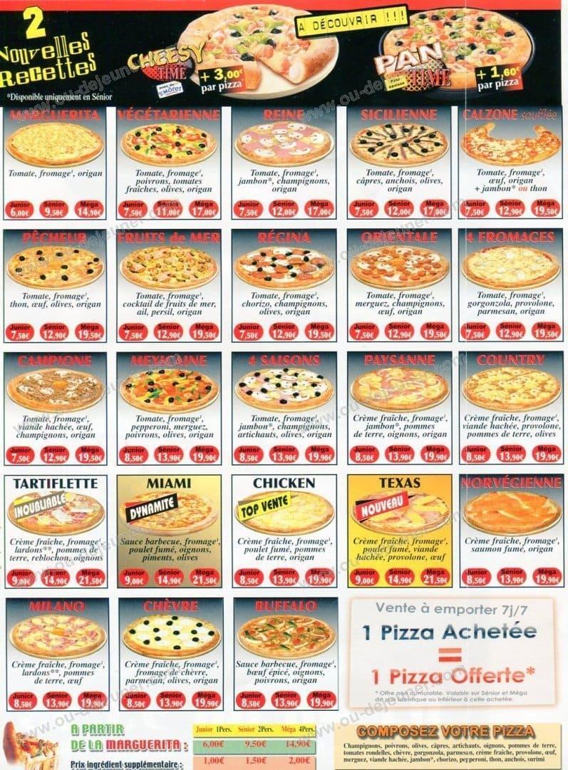 Le Cercle Pizza Aulnay Sous Bois - Pizza Timeà Aulnay Sous Bois, carte et menu en ligne