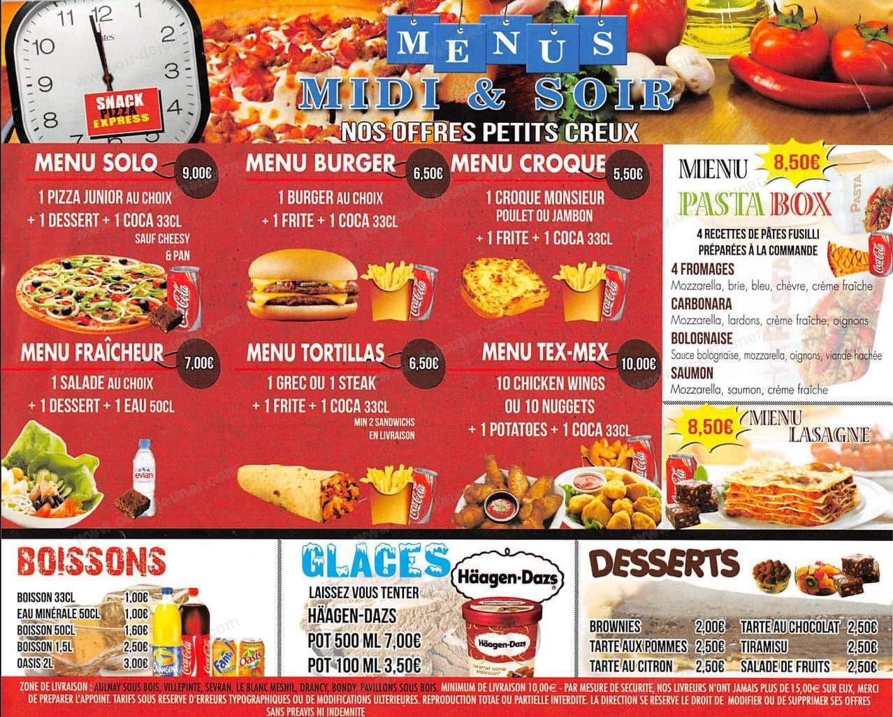 Snack Pizza Expressà Aulnay Sous Bois, carte et menu en ligne # Le Cercle Pizza Aulnay Sous Bois