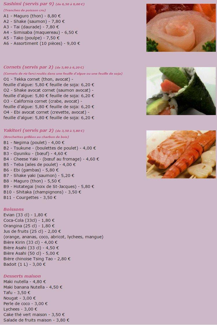 Yaxinggeà Aulnay Sous Bois, carte menu et photos # Restaurant Japonais Aulnay Sous Bois