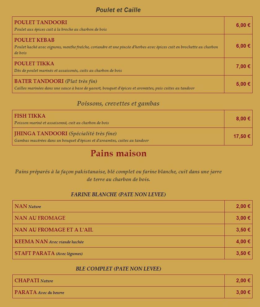 Restaurant Indien Fontenay Sous Bois - Le Balalà Fontenay Sous Bois, carte menu et photos