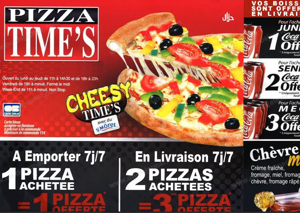 pizza time 39 s ivry sur seine carte et menu en ligne. Black Bedroom Furniture Sets. Home Design Ideas
