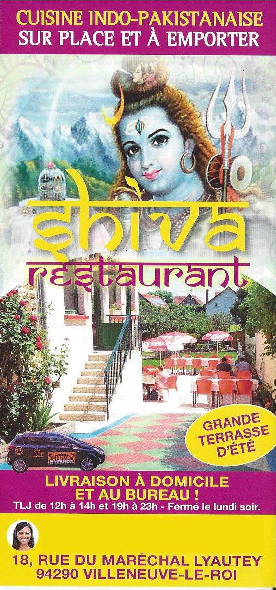 Shiva villeneuve le roi carte menu et photos for Piscine villeneuve le roi