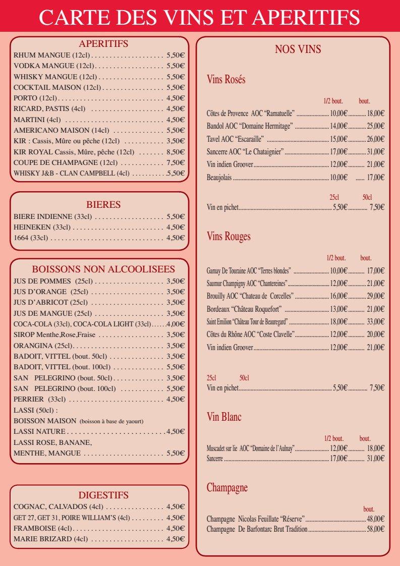 Carte Indien Restaurant.Restaurant Le Diplomate A Argenteuil Carte Menu Et Photos