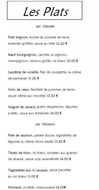 L 39 ardoise domont carte menu et photos for Restaurant domont 95330