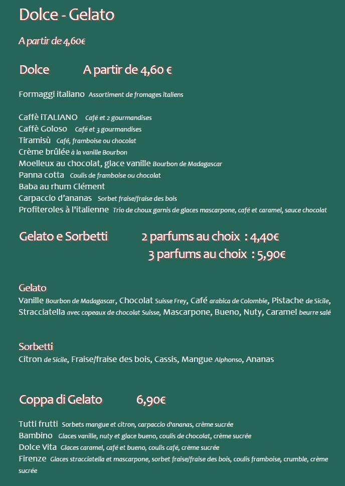 Rigatoni Cafe Carte