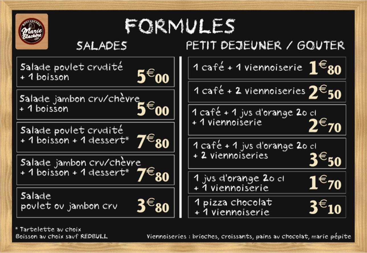 boulangerie marie blach u00e8re  u00e0 cormontreuil  carte et menu