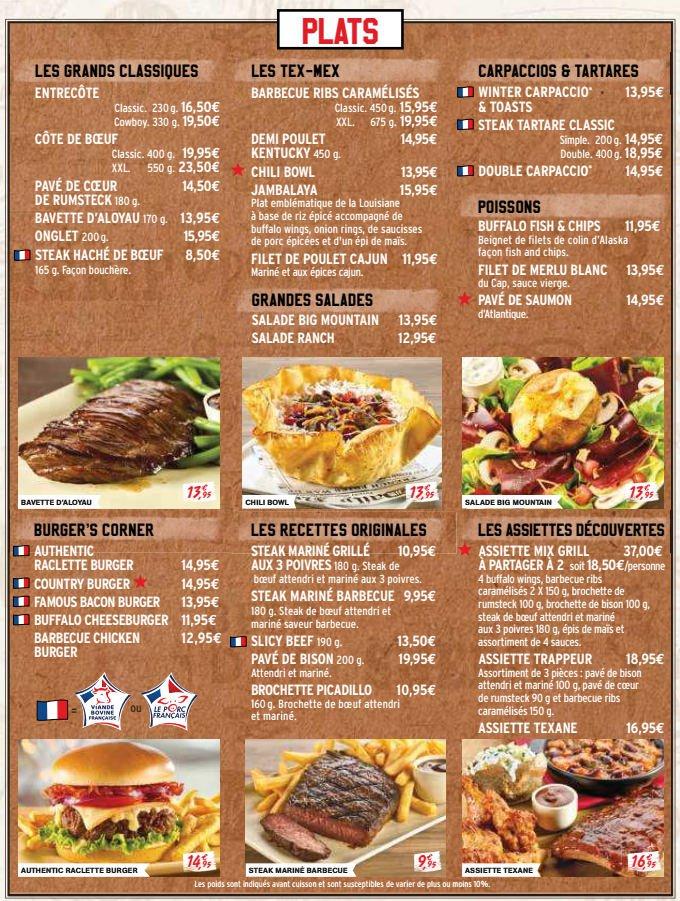Buffalo grill saint die carte et menu en ligne - Horaire ouverture buffalo grill ...