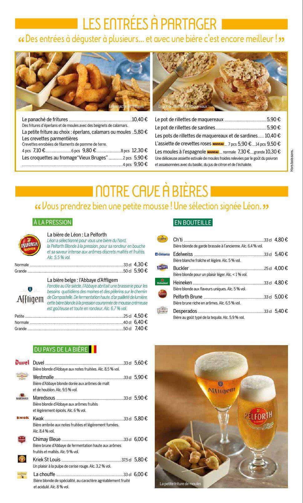 Menus Et Carte Restaurant La Criee Clermont Ferrand