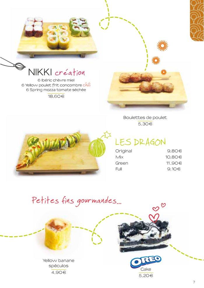 Nikki sushi la valentine carte et menu en ligne for Menu ete original
