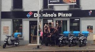 Domino's pizza - La façade de la pizzeria