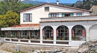 Auberge du Point Sublime - La façade du restaurant
