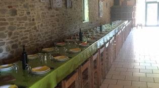 Ferme Carles - La salle de restauration