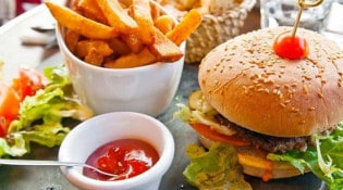 Le Calice - Un burger frites