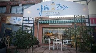 La Fille de Zorba - La façade du restaurant