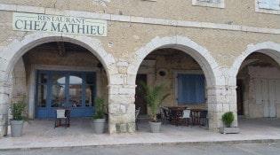 Chez Mathieu - La façade du restaurant